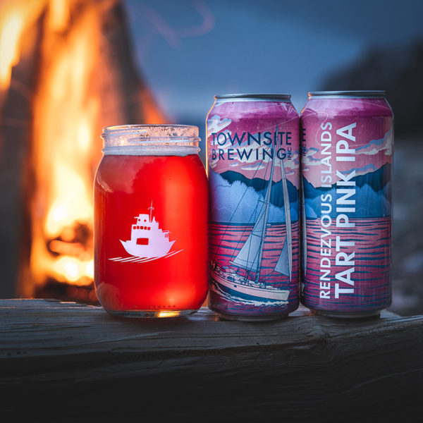 Rendezvous-Islands-Pink-Tart-IPA-Two-Cans-Beer-In-Glass-Fireside