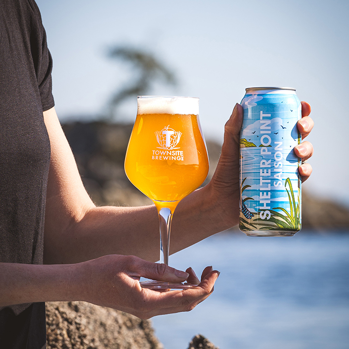 Shelter-Point-Saison-One-Can-Beer-In-Glass