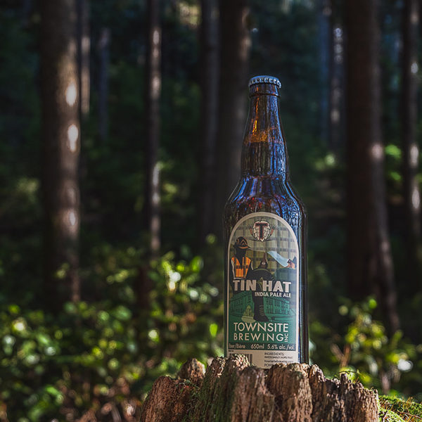 Tin-Hat-IPA-Bottle-In-Forest